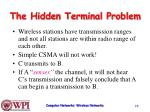 the hidden terminal problem