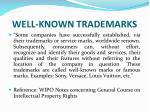 well known trademarks