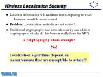 wireless localization security