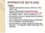 apprentice boys and 1969