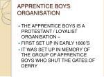 apprentice boys organisation
