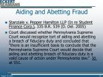 aiding and abetting fraud