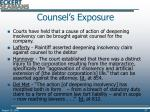 counsel s exposure