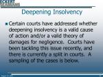 deepening insolvency