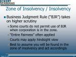 zone of insolvency insolvency31