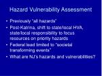 hazard vulnerability assessment