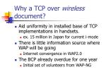 why a tcp over wireless document