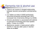 dementia risk alcohol use