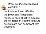 what are the beliefs about addiction
