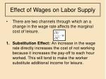 effect of wages on labor supply