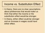 income vs substitution effect