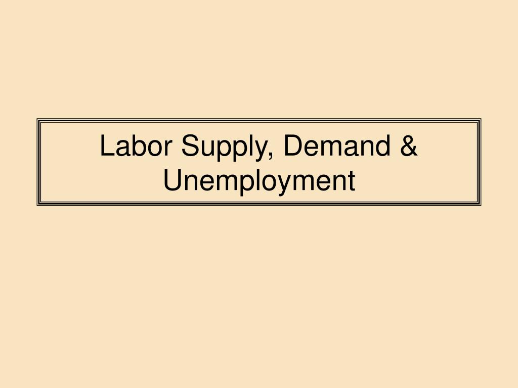 labor supply demand unemployment l.