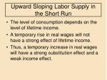 upward sloping labor supply in the short run