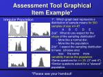assessment tool graphical item example