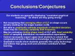 conclusions conjectures