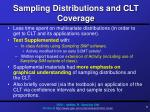 sampling distributions and clt coverage