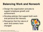 balancing work and nonwork