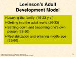 levinson s adult development model