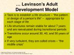 levinson s adult development model1