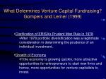 what determines venture capital fundraising gompers and lerner 19992