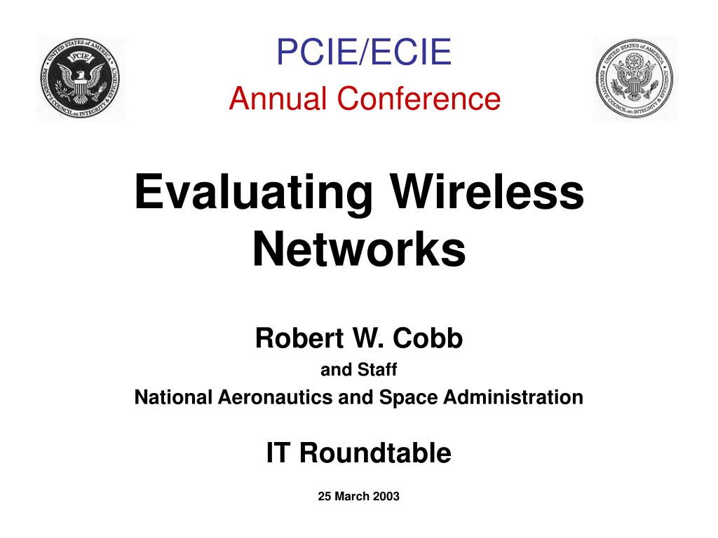 evaluating wireless networks l.
