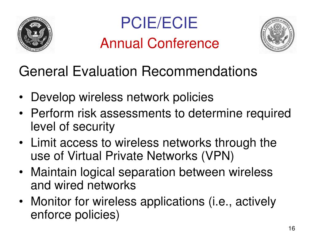 General Evaluation Recommendations