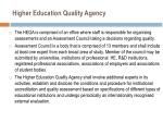 higher education quality agency