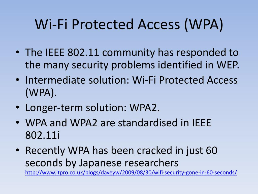 Wi-Fi Protected Access (WPA)