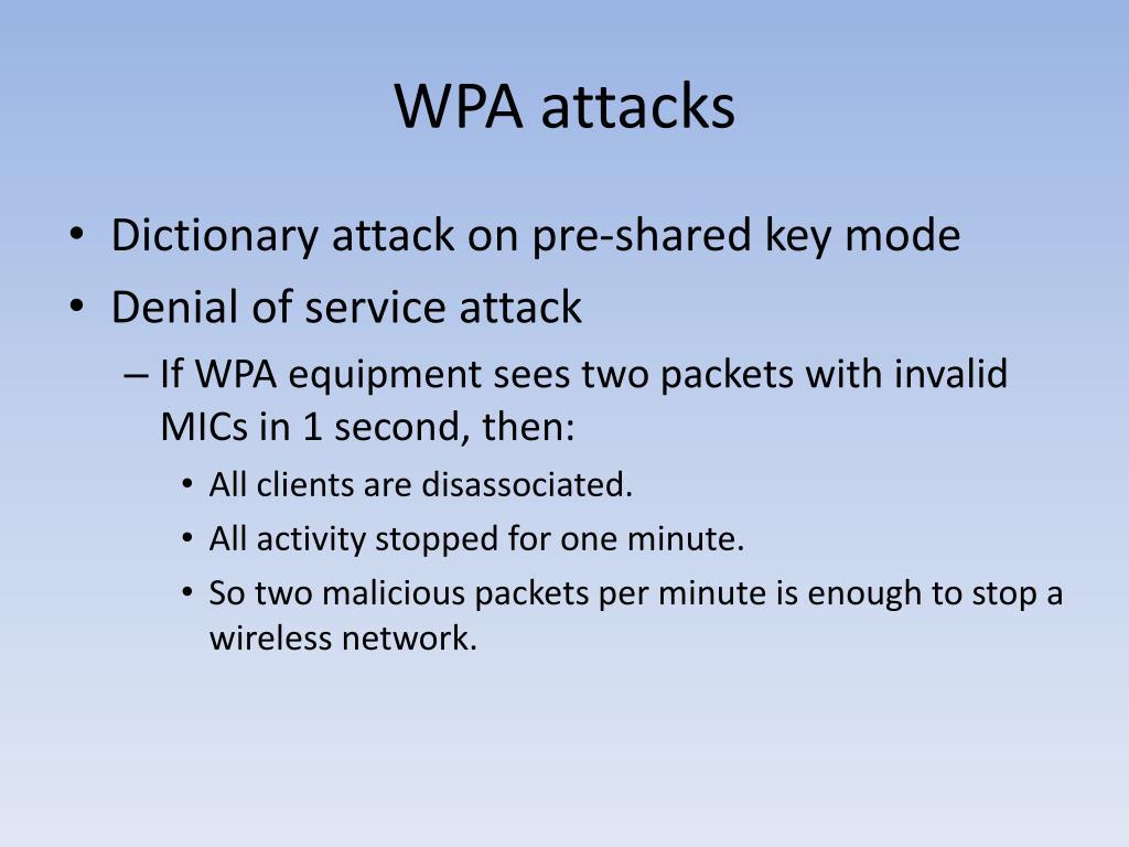 WPA attacks
