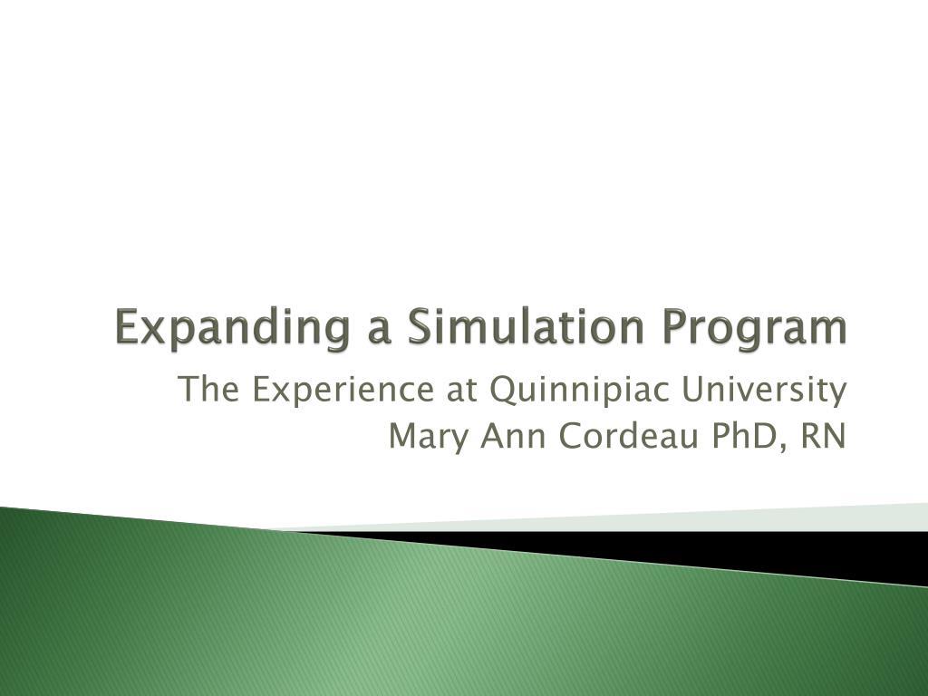 expanding a simulation program l.