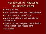 framework for reducing sex related harm