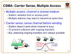 csma carrier sense multiple access