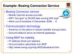 example boeing connexion service