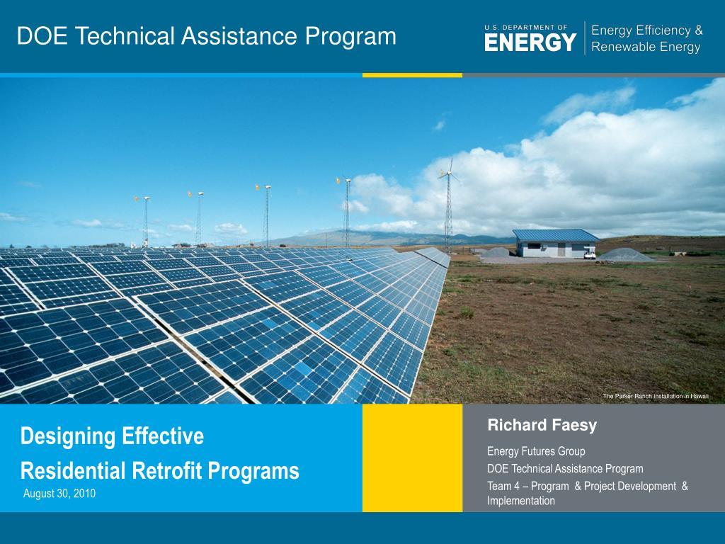 doe technical assistance program l.