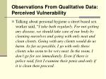 observations from qualitative data perceived vulnerability15