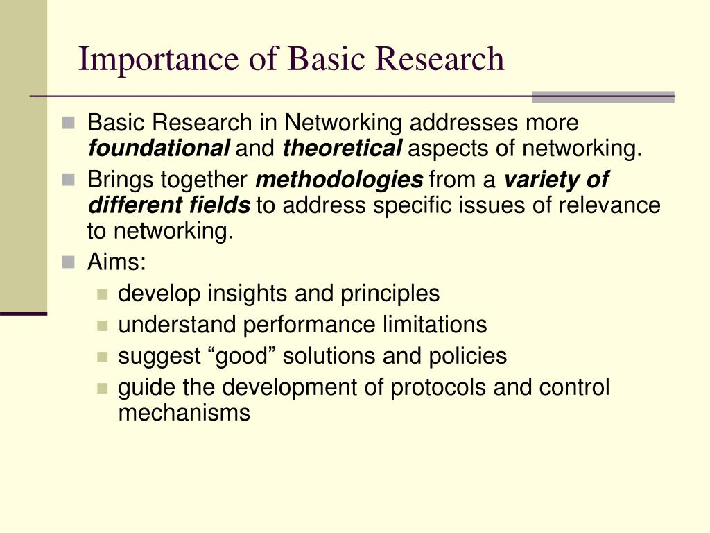 Importance of Basic Research