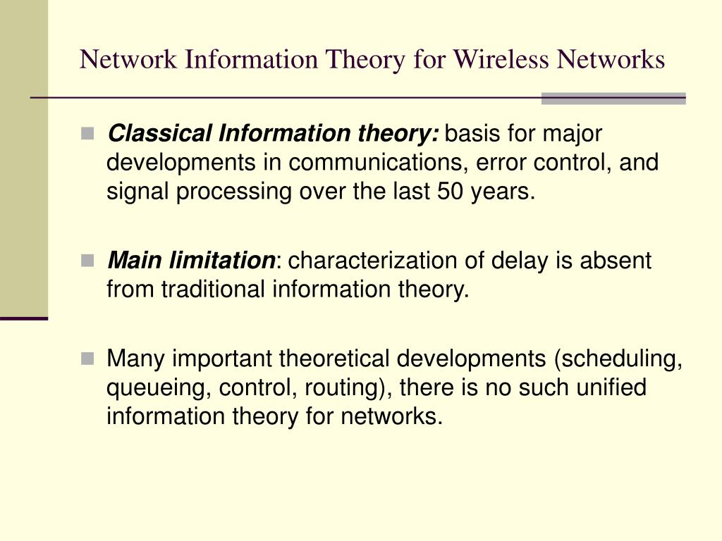 Network Information Theory for Wireless Networks