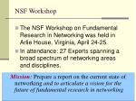 nsf workshop