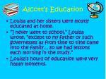 alcott s education