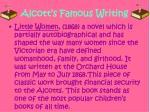 alcott s famous writing