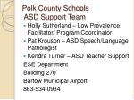 polk county schools asd support team