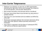 inter carrier telepresence