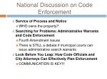 national discussion on code enforcement