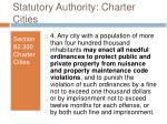 statutory authority charter cities5