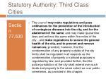 statutory authority third class cities