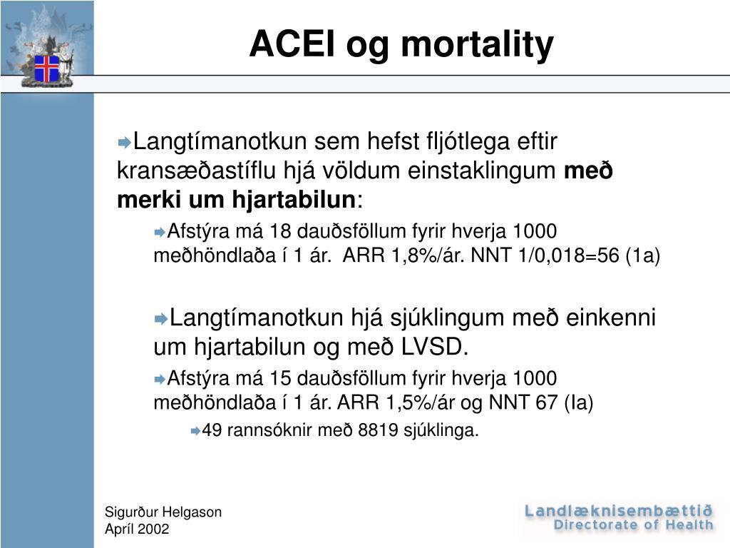 acei og mortality l.