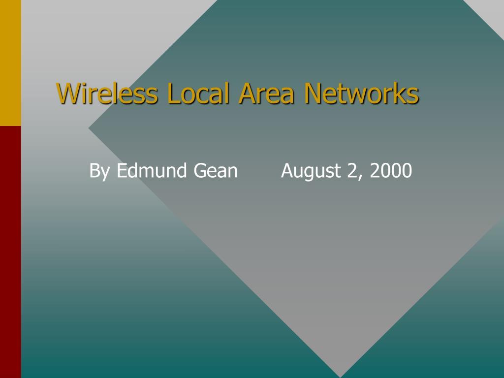 wireless local area networks l.