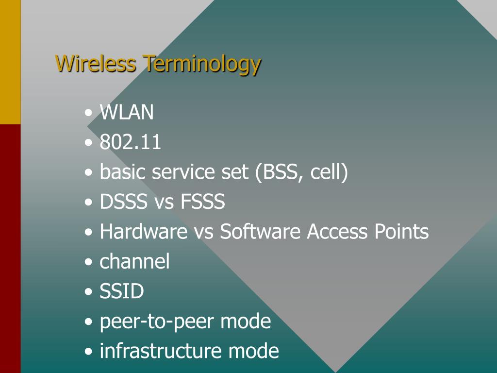 Wireless Terminology