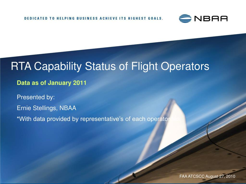 rta capability status of flight operators l.