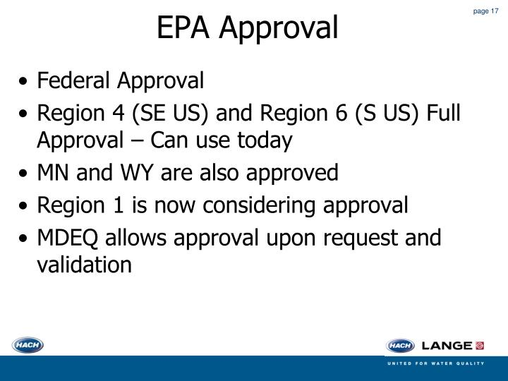 EPA Approval